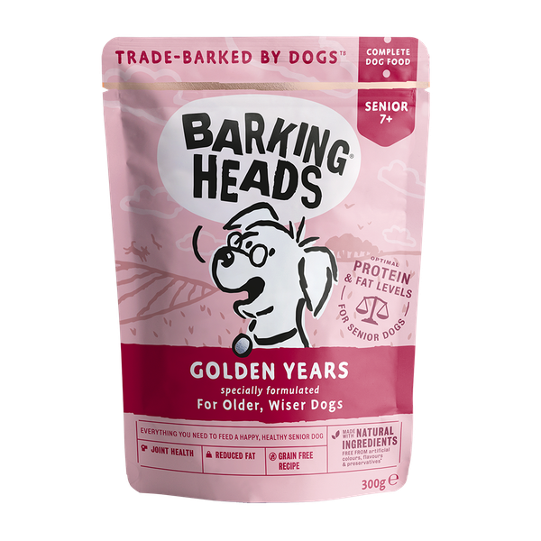 Barking Heads Golden Years Pouch, 300g X 10