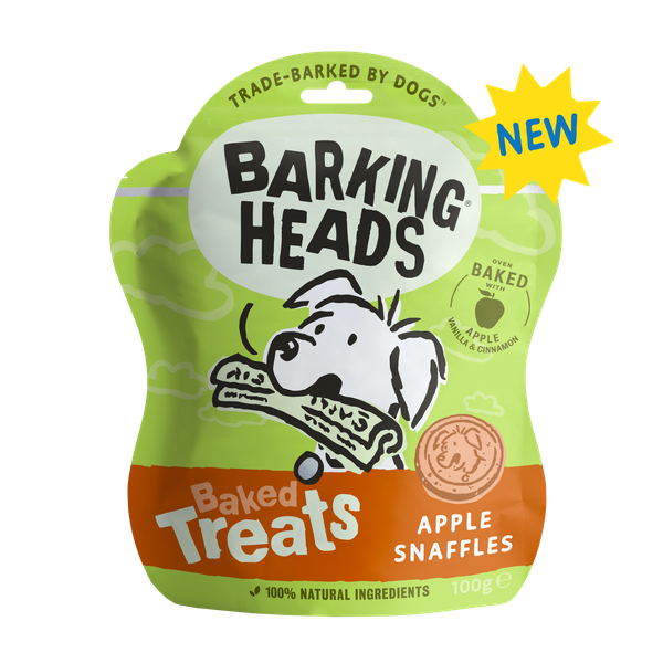 Barking Heads Apple Snaffles Baked Treats (formally Bailey Bites), 100g