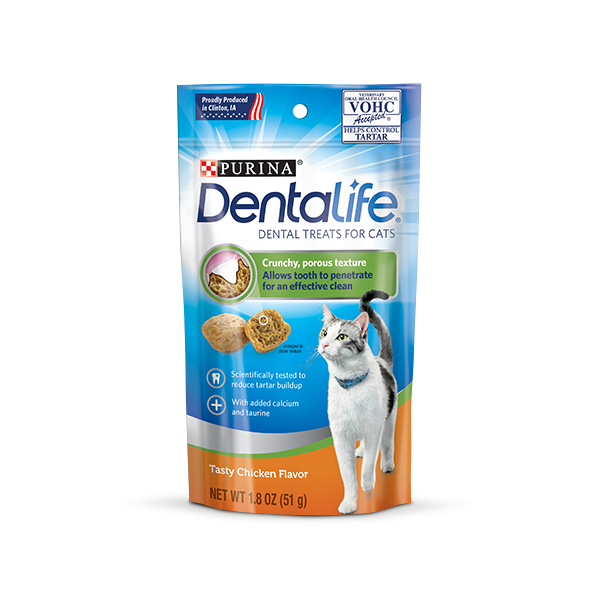 Dentalife Cat Chicken or Salmon - 8 Packs of 40g