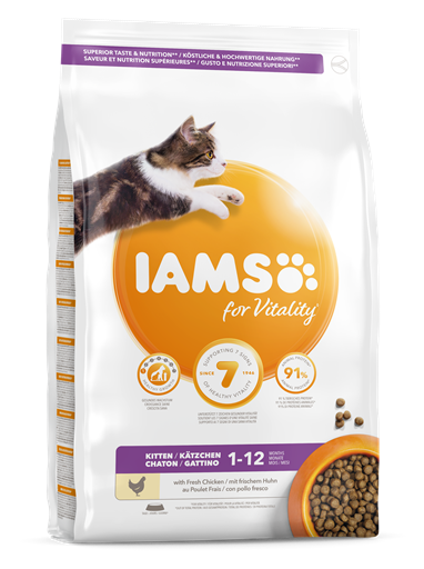 IAMS for Vitality Kitten Food with Fresh chicken 800g