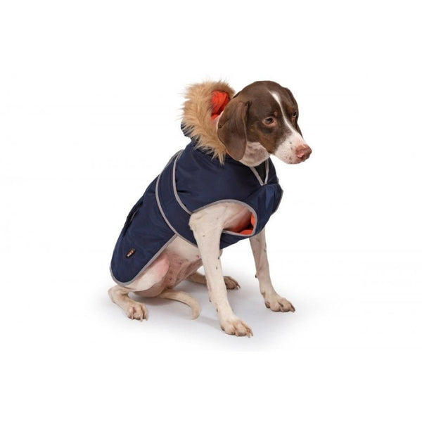 Ancol Parka Dog Coat Navy, sml 30cm