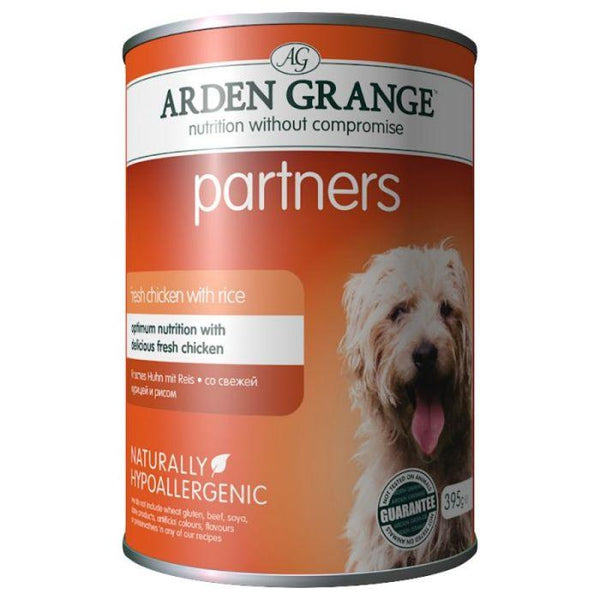 Arden Grange Dog Partners Chicken and Rice, 6x395g X 4