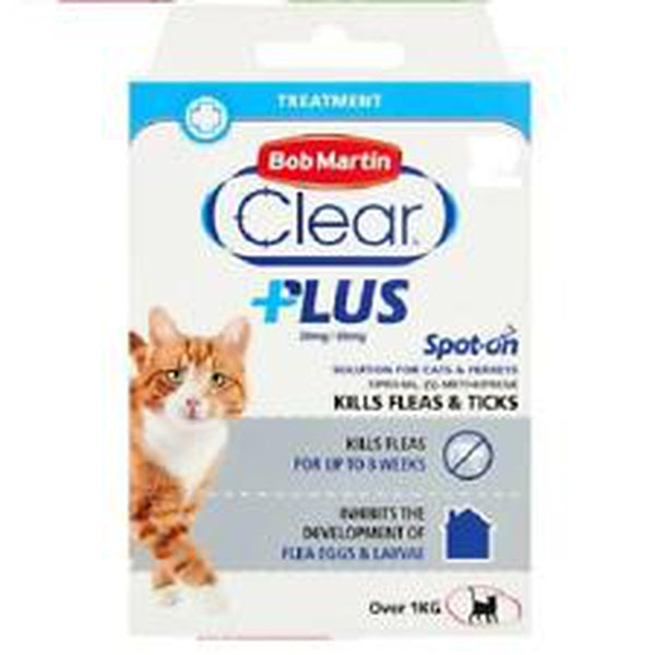 Bob Martin Clear Plus Spot On For Cat 1 month