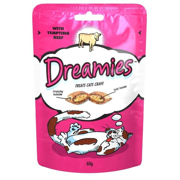 Dreamies Cat Treats with Beef, 60g X 8