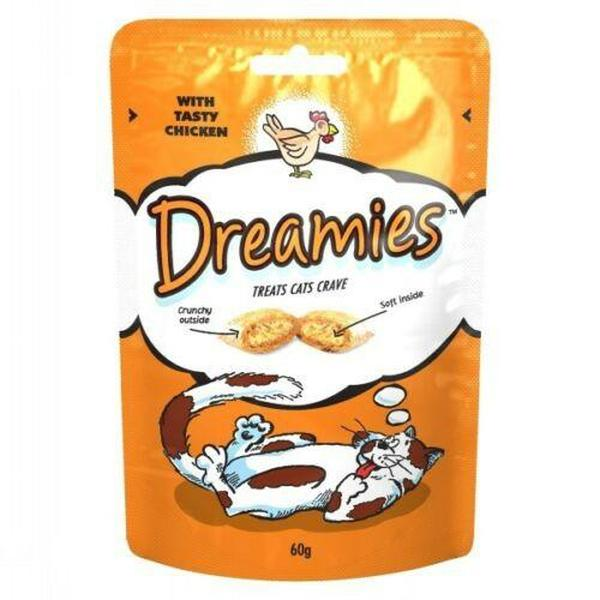 Dreamies Cat Treats with Chicken, 60g X 8