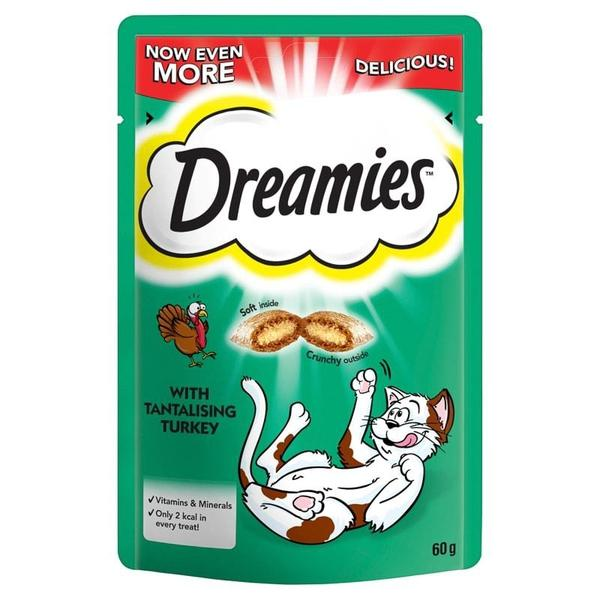 Dreamies Cat Treats with Tantalising Turkey, 60g X 8