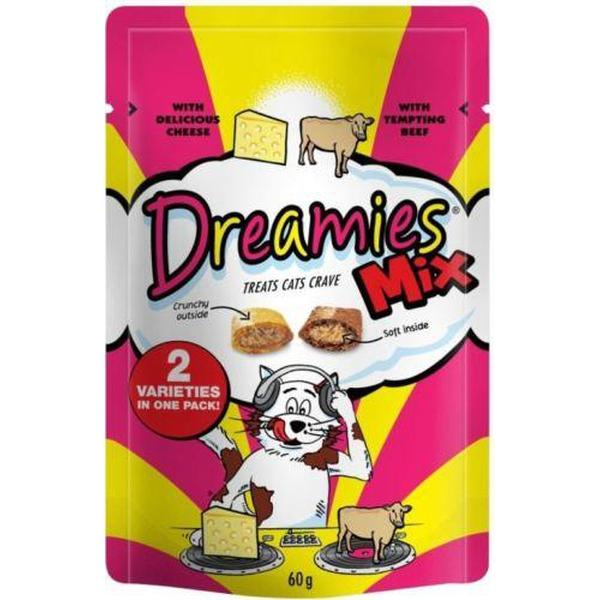 Dreamies Mix Cat Treats with Delicious Cheese & Tempting Beef, 60g X 8