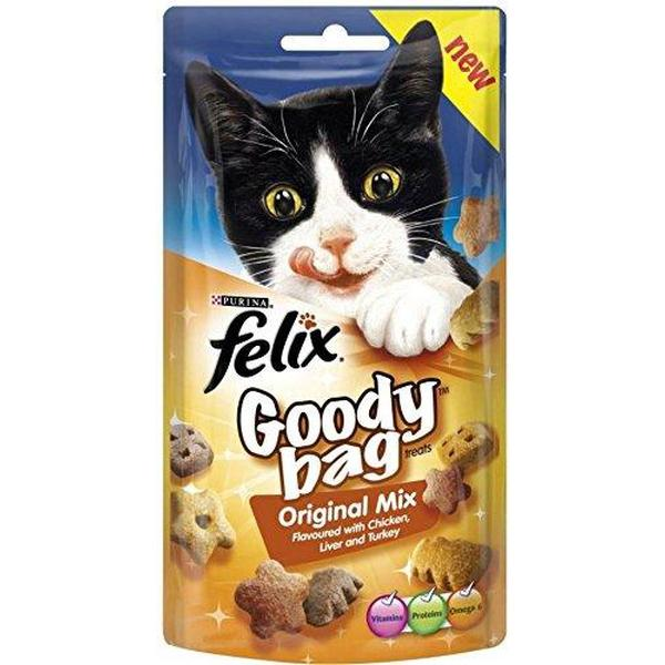 Felix Goody Bag Original Mix with Chicken, Liver & Turkey, 60g X 8