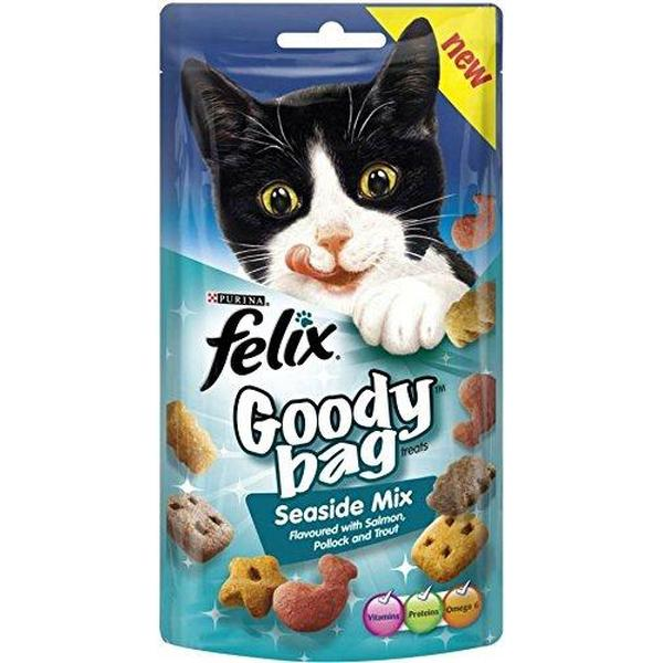 Felix Goody Bag Seaside Mix with Salmon, Pollock & Trout, 60g X 8