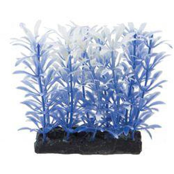 Fish 'R' Fun Aquarium Plant Blue & Base 4""