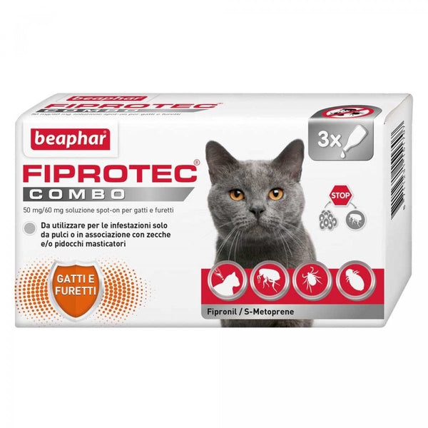 Beaphar FIPROtec COMBO Spot On for Cats - Various Sizes