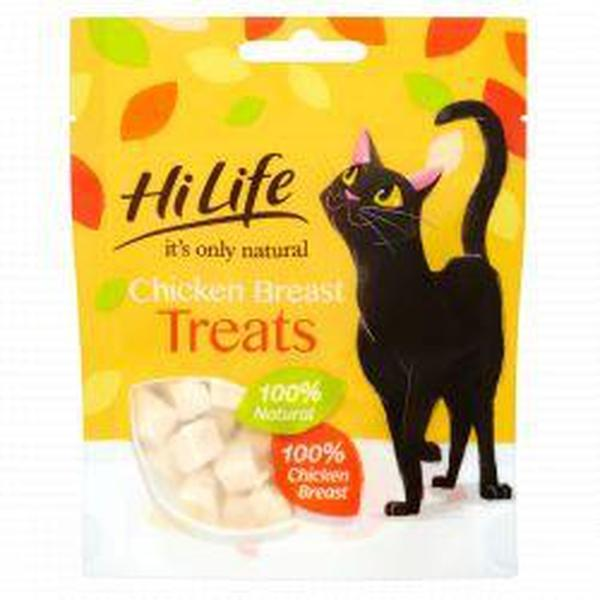HiLife It's Only Natural Cat Treat Chicken Breast, 10g X 12