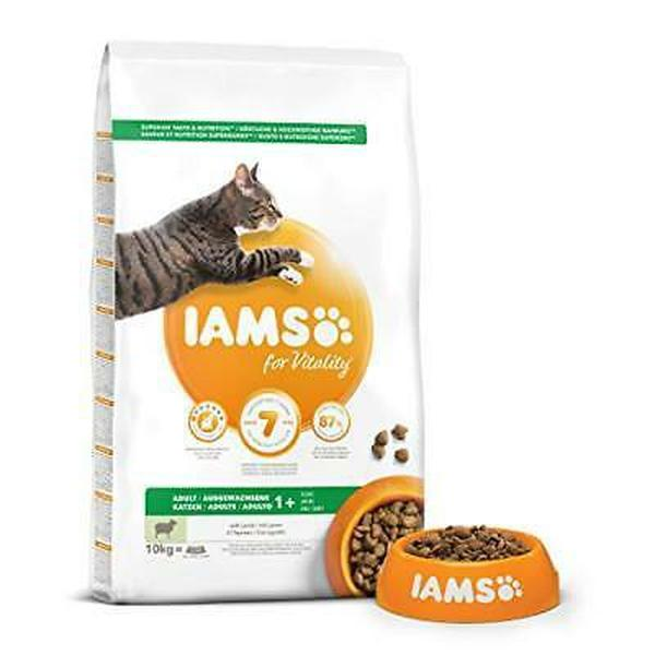 IAMS for Vitality Adult Cat Food with Lamb, 10kg