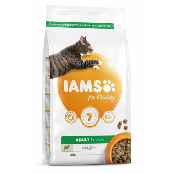 IAMS for Vitality Adult Cat Food with Lamb, 800g
