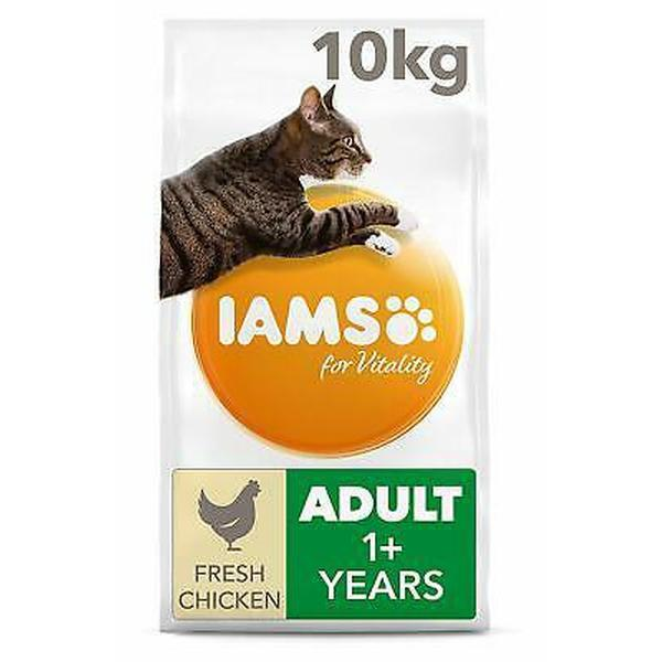 IAMS for Vitality Light in fat Sterilised Cat Food with Fresh chicken, 10kg
