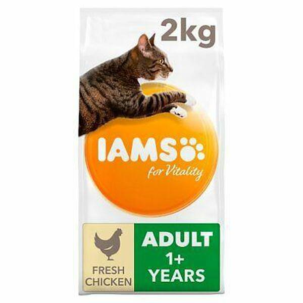 IAMS for Vitality Light in fat Sterilised Cat Food with Fresh chicken, 2kg