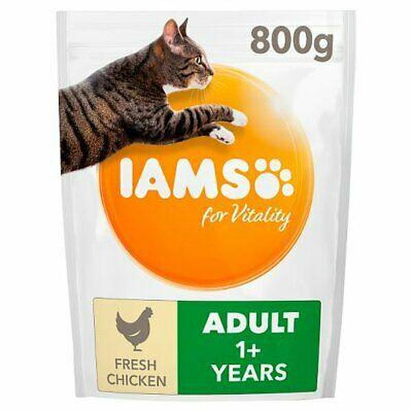 IAMS for Vitality Light in fat Sterilised Cat Food with Fresh chicken, 800g