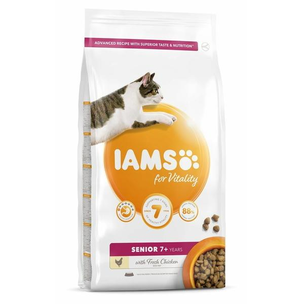 IAMS for Vitality Senior Cat Food with Fresh chicken, 10kg