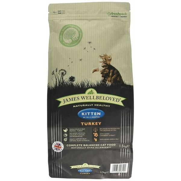 James Wellbeloved Cat Kitten Fish & Rice, 1.5kg