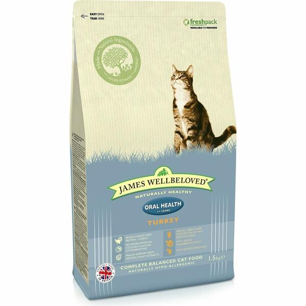 James Wellbeloved Cat Oral Turkey & Rice, 4kg