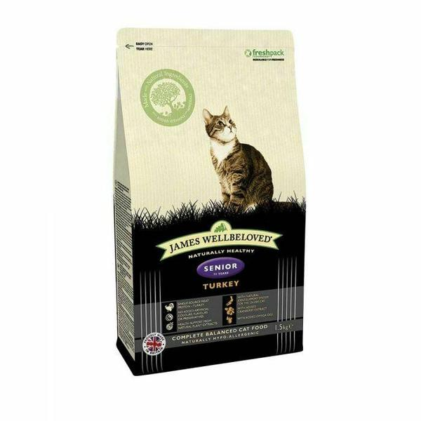 James Wellbeloved Cat Senior Fish & Rice, 1.5kg