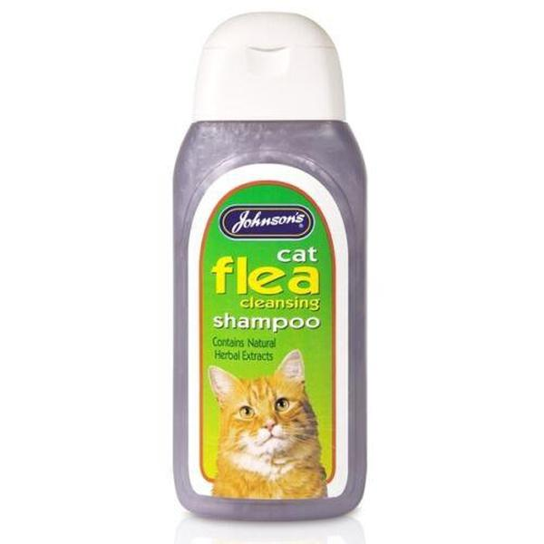 Johnson's Cat Flea Cleansing Shampoo, 125ml