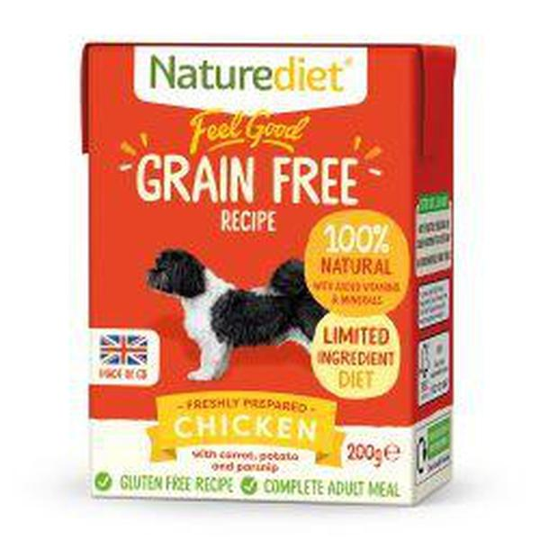 Naturediet Feel Good Grain Free Chicken, 390g X 18