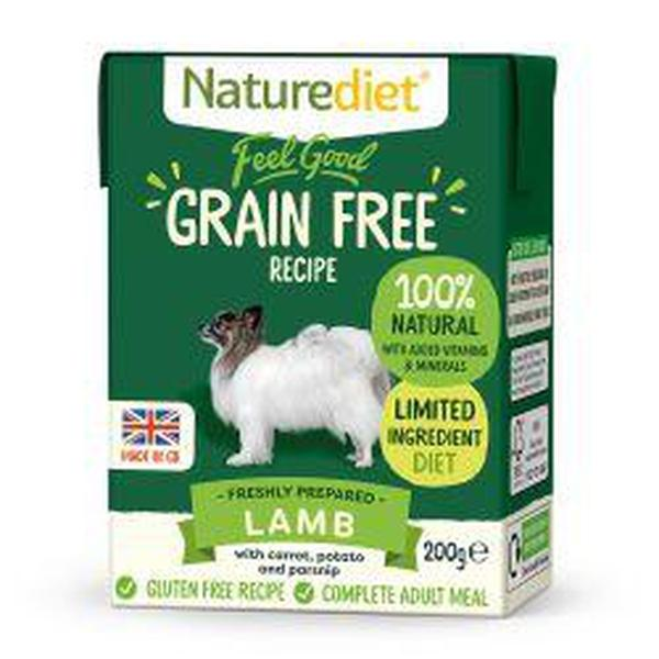 Naturediet Feel Good Grain Free Lamb 200g, 200g X 8
