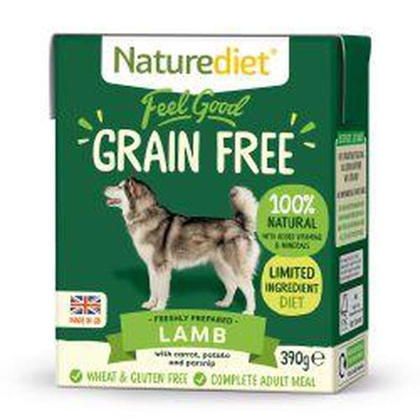 Naturediet Feel Good Grain Free Lamb, 390g X 18