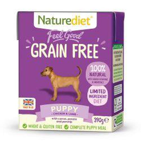 Naturediet Feel Good Grain Free Puppy, 390g X 18