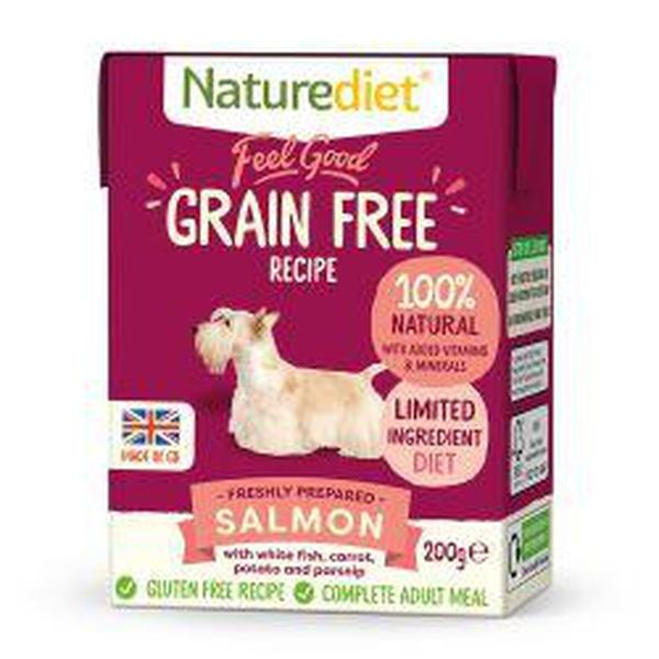 Naturediet Feel Good Grain Free Salmon 200g, 200g X 8