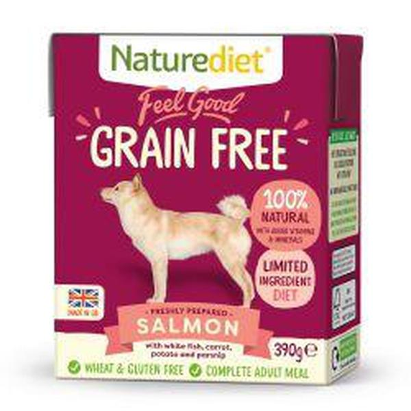 Naturediet Feel Good Grain Free Salmon, 390g X 18