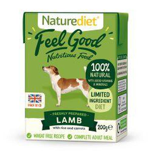 Naturediet Feel Good Lamb 200g, 200g X 8