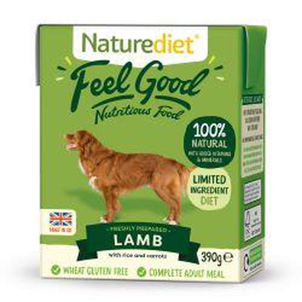 Naturediet Feel Good Lamb, 390g X 18
