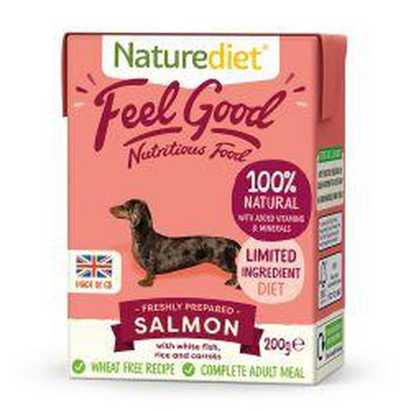 Naturediet Feel Good Salmon 200g, 200g X 8