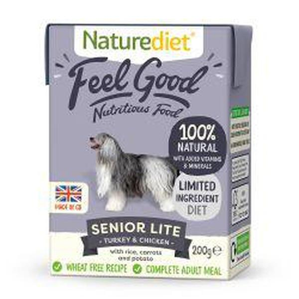 Naturediet Feel Good Senior Lite 200g, 200g X 8