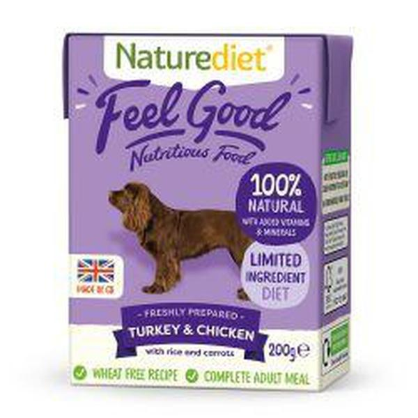 Naturediet Feel Good Turkey & Chicken 200g, 200g X 8