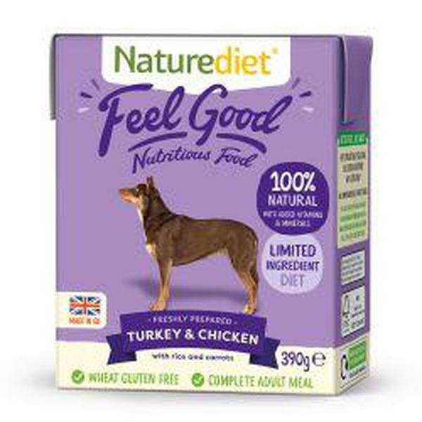 Naturediet Feel Good Turkey & Chicken, 390g X 18