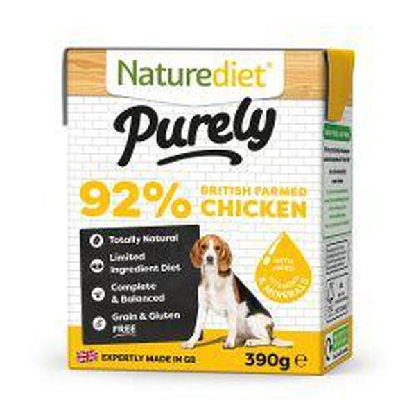 Naturediet Purely Chicken, 390g X 18