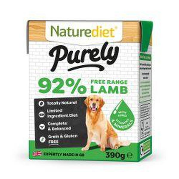 Naturediet Purely Lamb, 390g X 18