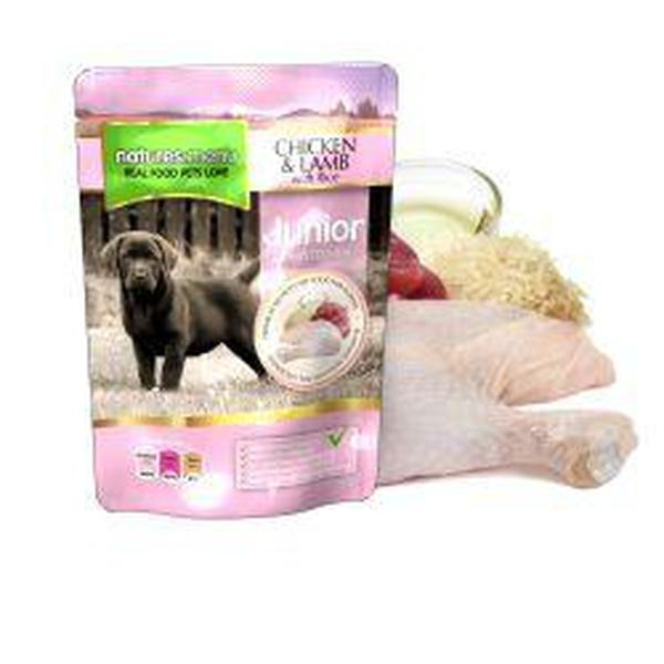 Natures Menu Junior Chicken & Lamb Pouches, 8 Packs of300g X 8