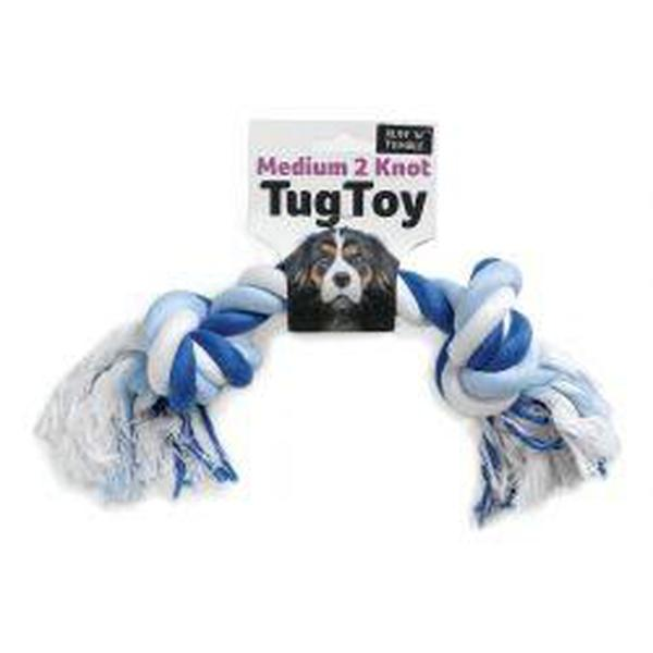 Ruff 'N' Tumble 2 Knot Small Rope Toy 90g, 22.5cm