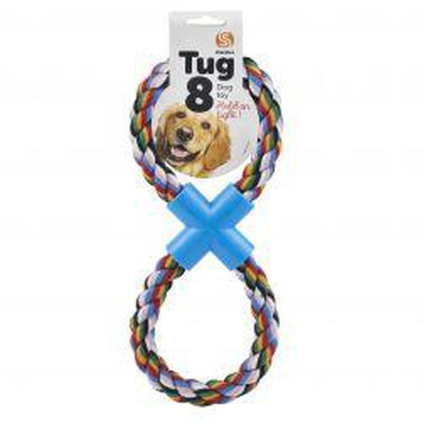 Ruff 'N' Tumble Fig 'R' Eight Rope Dog Toy, sgl