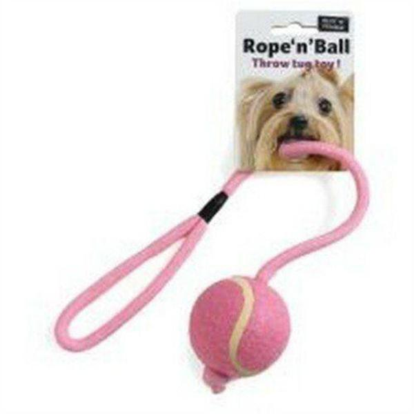 Ruff 'N' Tumble Rope 'N' Ball Throw Tug Toy, sgl