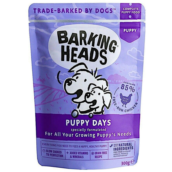 Barking Heads Puppy Days Pouch (New improved recipe!), 300g X 10