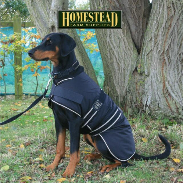 Animate Dog Coat Waterproof Black, 16""