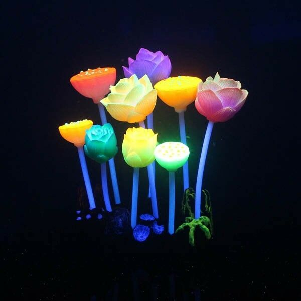 Aquarium Lumo Lotus Flower 12.5cm
