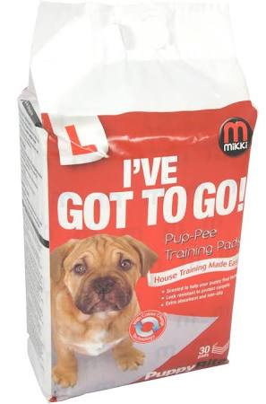 Mikki Pup-pee Pads 30, 60, 90, 120 or 150 pack