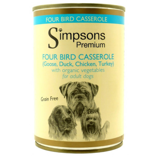Simpsons Dog Four Birds, 400g X 6