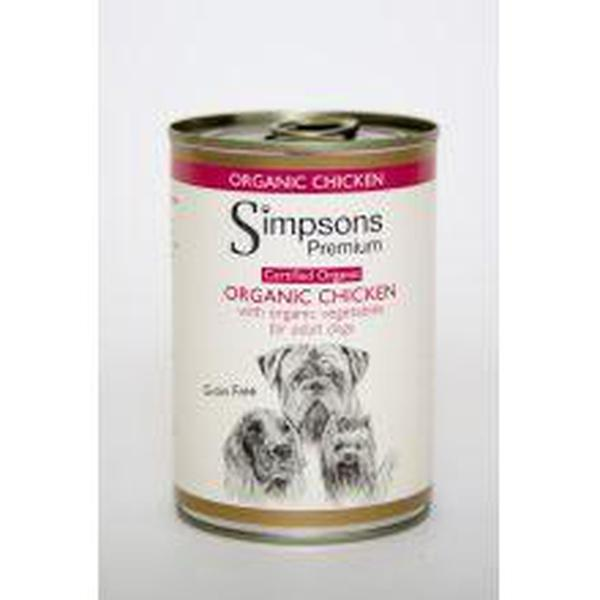 Simpsons Dog Organic Chicken, 400g X 6